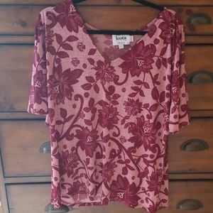 Leota top red floral. Rags off but never worn.